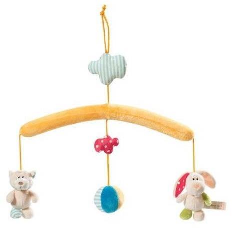 vorhang ber die krippe mit tieren kinderbett spielzeug spielzeug. Black Bedroom Furniture Sets. Home Design Ideas