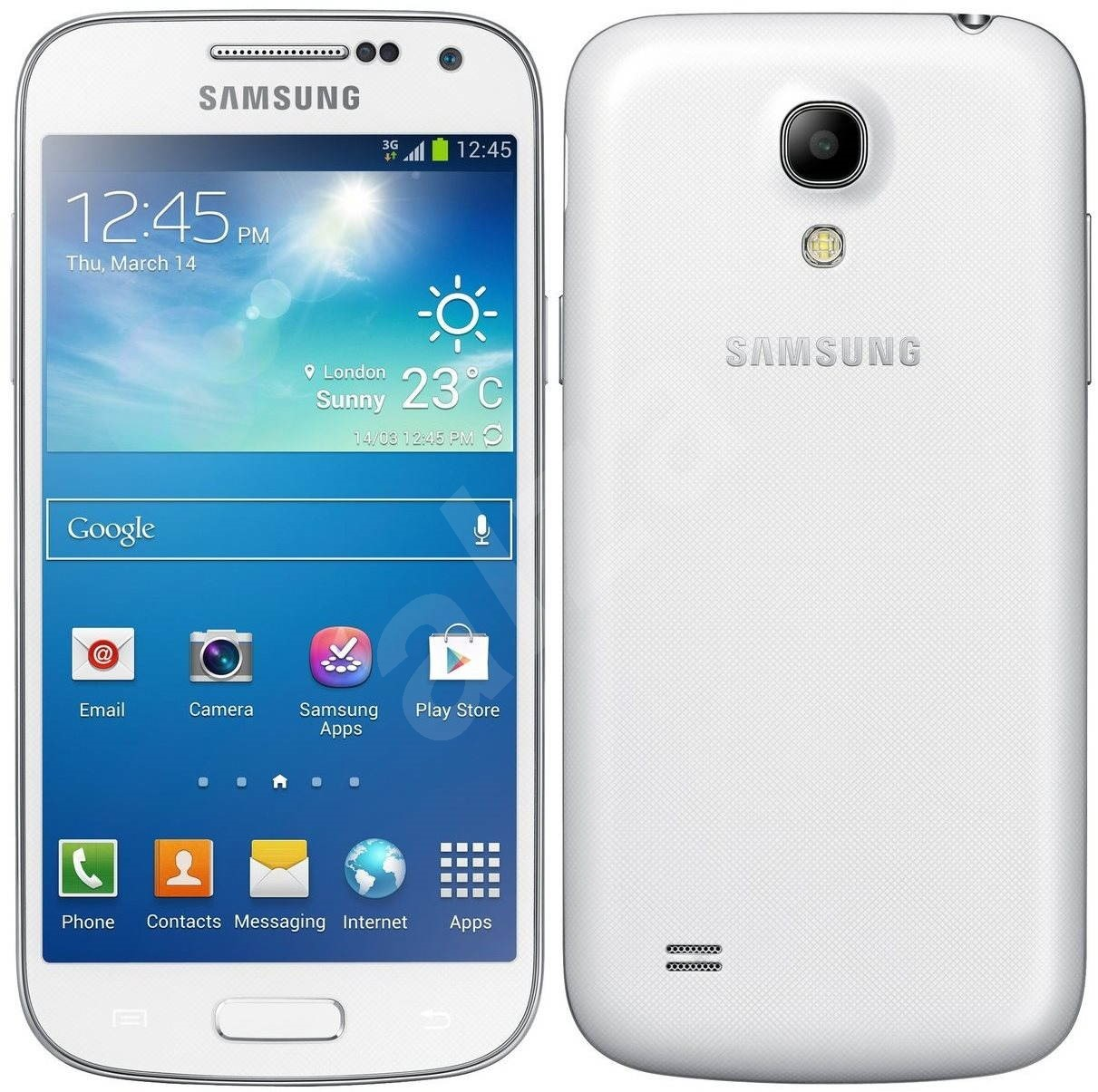 samsung galaxy s4 mini i9195 white mobiln telefon. Black Bedroom Furniture Sets. Home Design Ideas