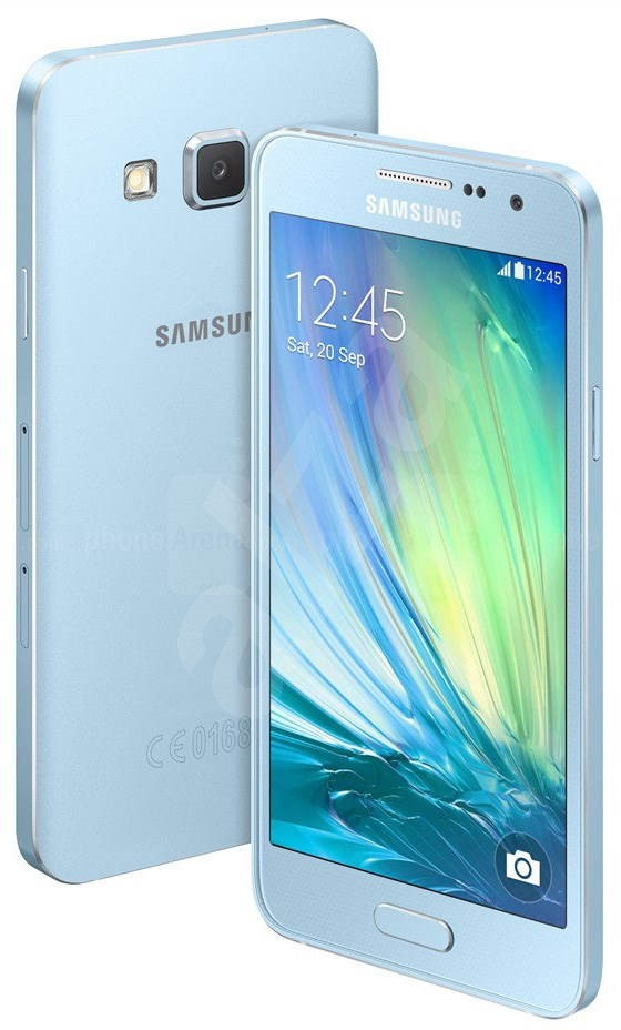 samsung galaxy a5 sm a500f light blue mobile phone. Black Bedroom Furniture Sets. Home Design Ideas