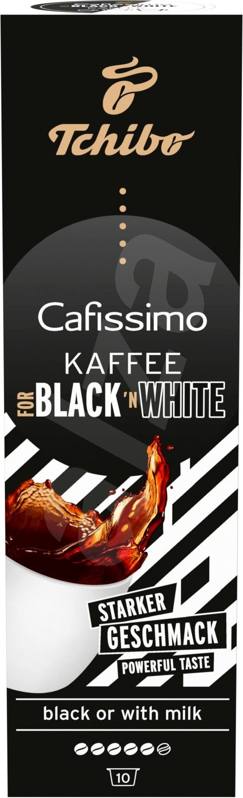 tchibo cafissimo black white coffee capsules. Black Bedroom Furniture Sets. Home Design Ideas