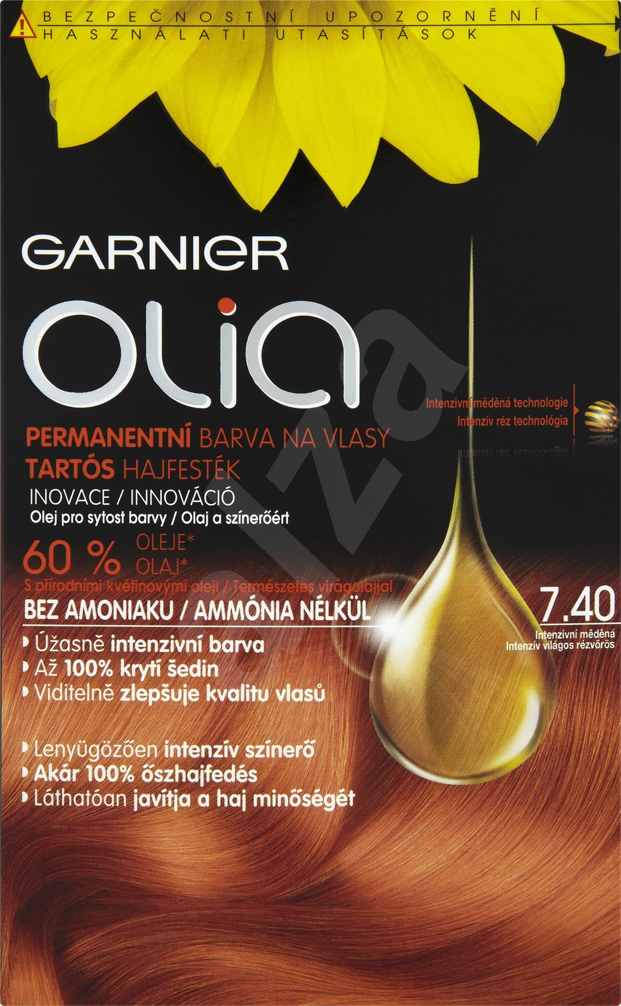 Garnier Olia 7 40 Intenz 237 Vne Meden 225 Farba Na Vlasy Alza