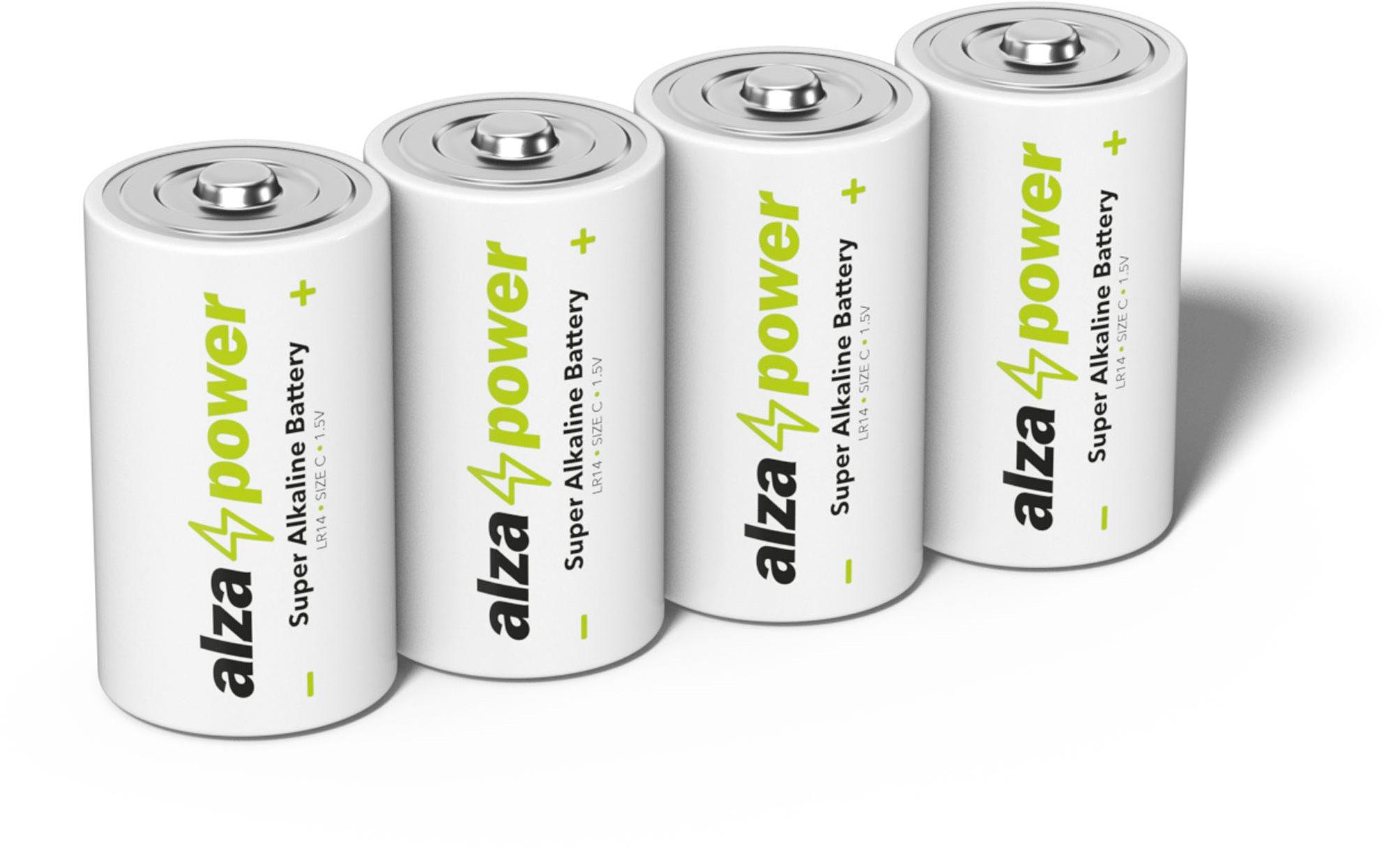 AlzaPower Super Alkaline LR14 (C) 4 db eco-dobozban