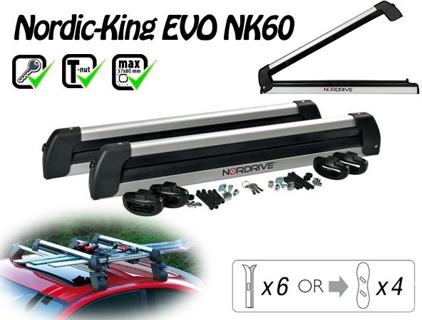 Nordrive Nordic King Evo Carrier 6 pár síléchez/4 snowboardhoz