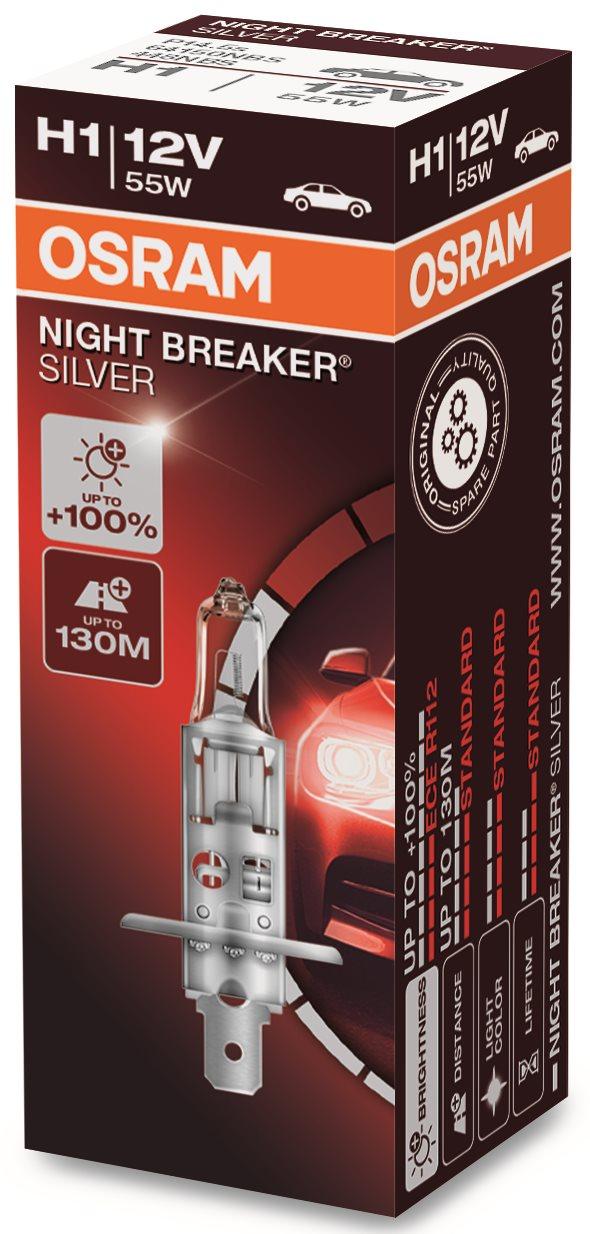 OSRAM H1 Night Breaker SILVER +100%