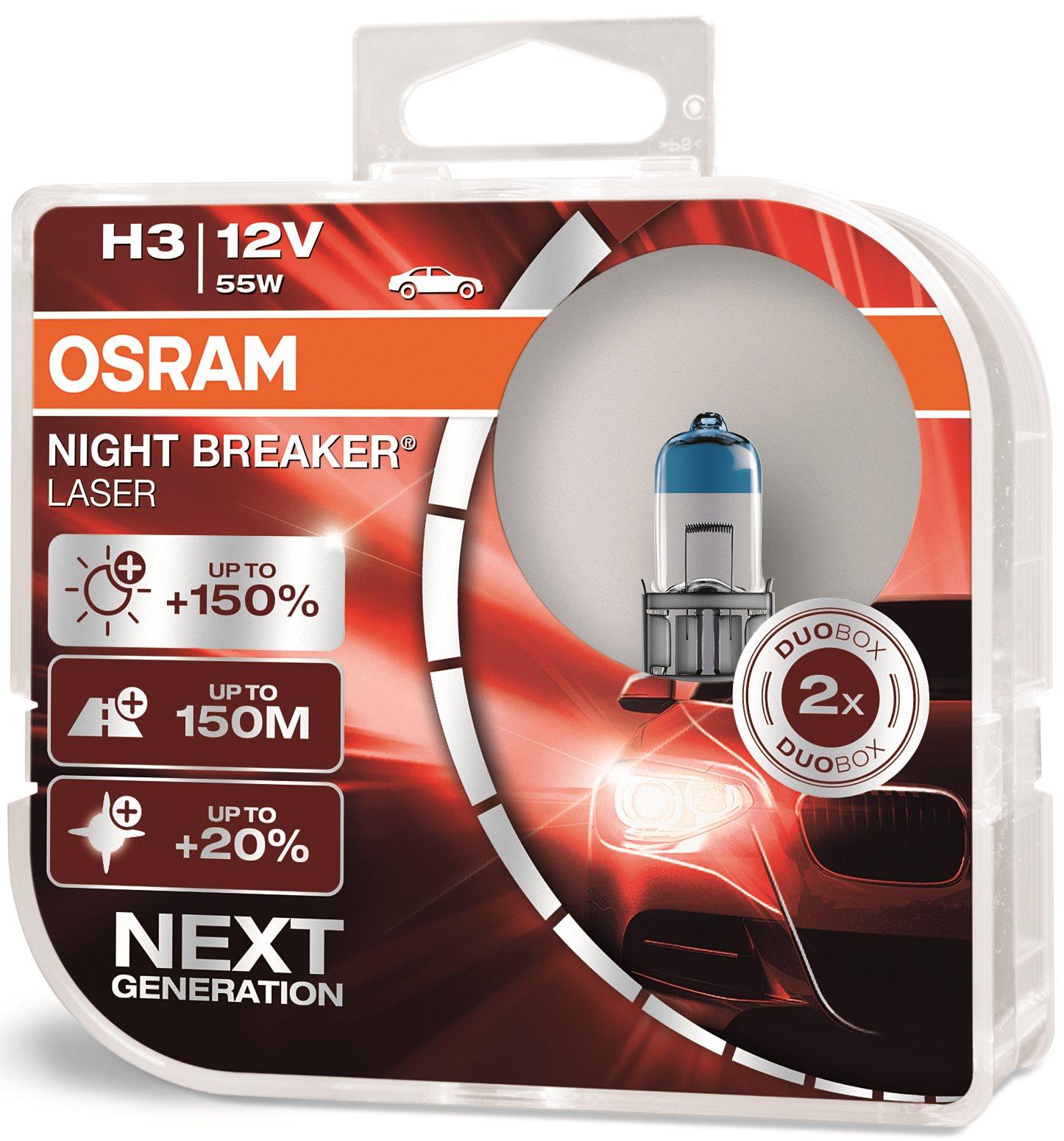 OSRAM H3 Night Breaker Laser Next Generation +150%, 2 db