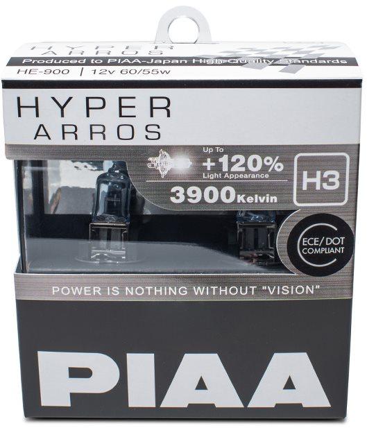 PIAA Hyper Arros 3900K H3 + 120% növelt fényerő, 2 db