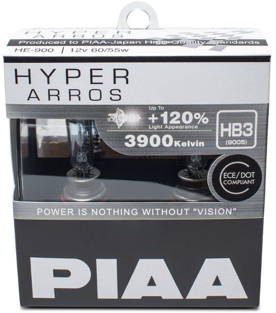 PIAA Hyper Arros 3900K HB3 + 120%-kal több fény, 2 db