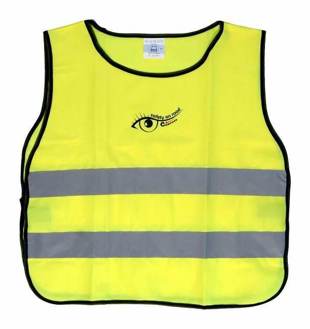 COMPASS Láthatósági mellény, sárga, gyerek