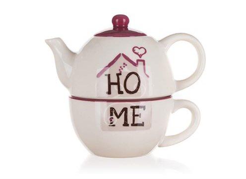 BANQUET HOME kerámia teáskanna és csésze, OK