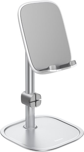Baseus Literary Youth Desktop Phone Holder Bracket, ezüst