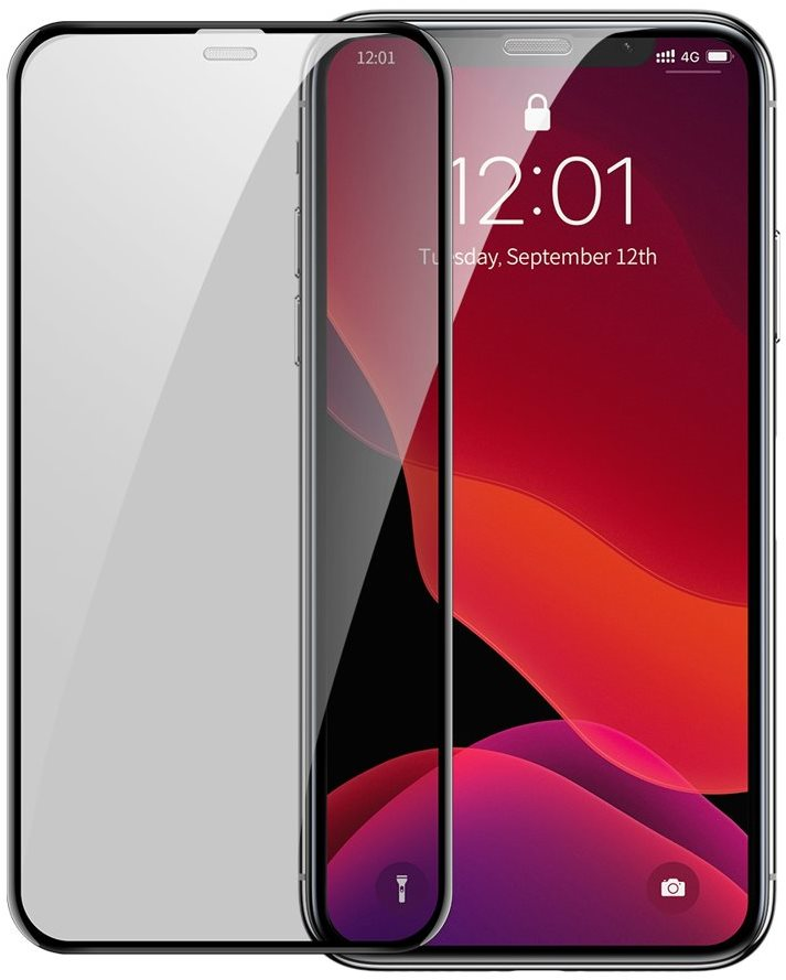 Baseus Full-Screen Curved Privacy Tempered Glass (2 pcs Pack + Pasting Artifact) iPhone X / XS