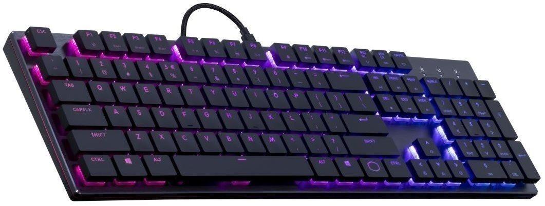 Cooler Master SK650, gamer billentyűzet, RED Switch, RGB LED, US kiosztás, fekete