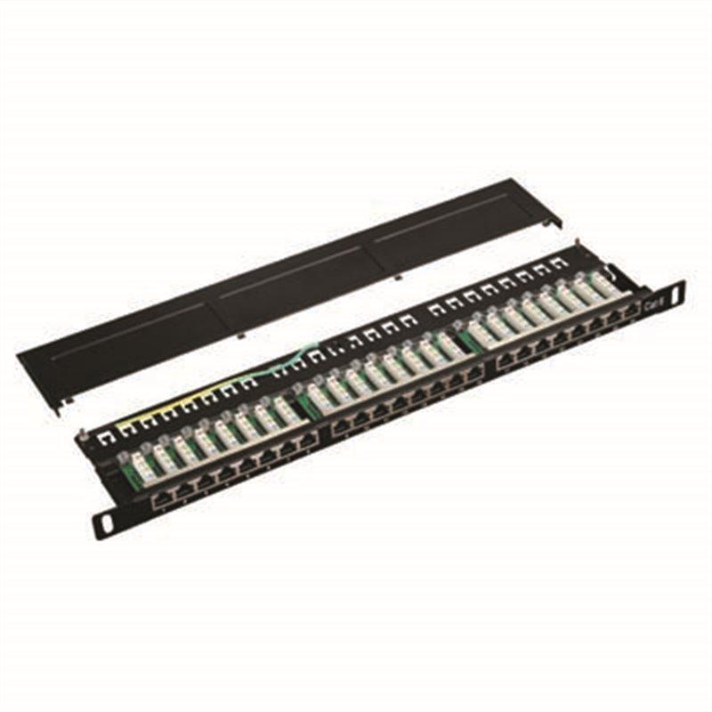 "Datacom Patch panel 19"" STP 24 port CAT6 LSA 0,5U BK (3x8p)"