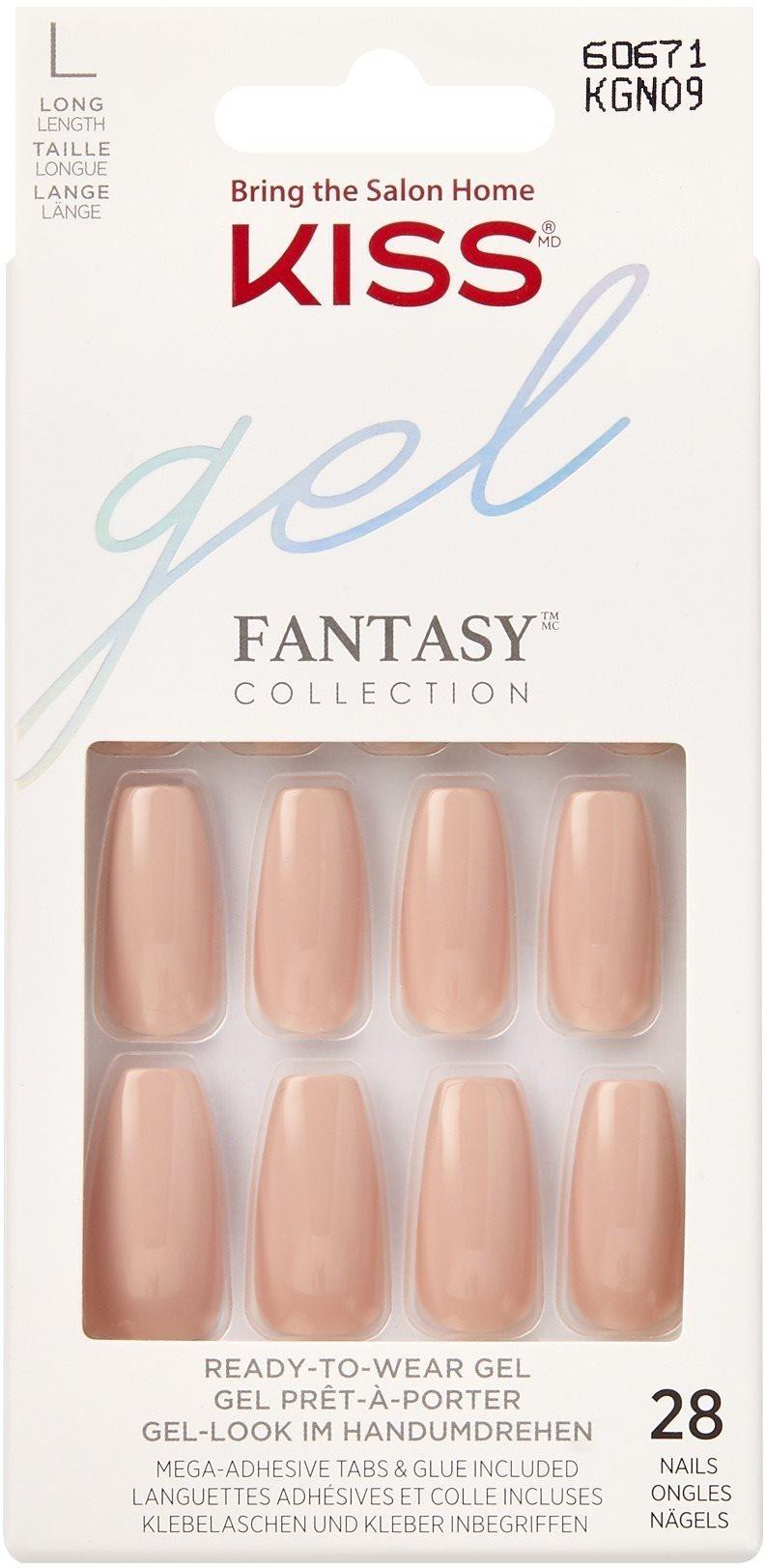 KISS Gel Fantasy Nails - Ab Fab - Burgundy