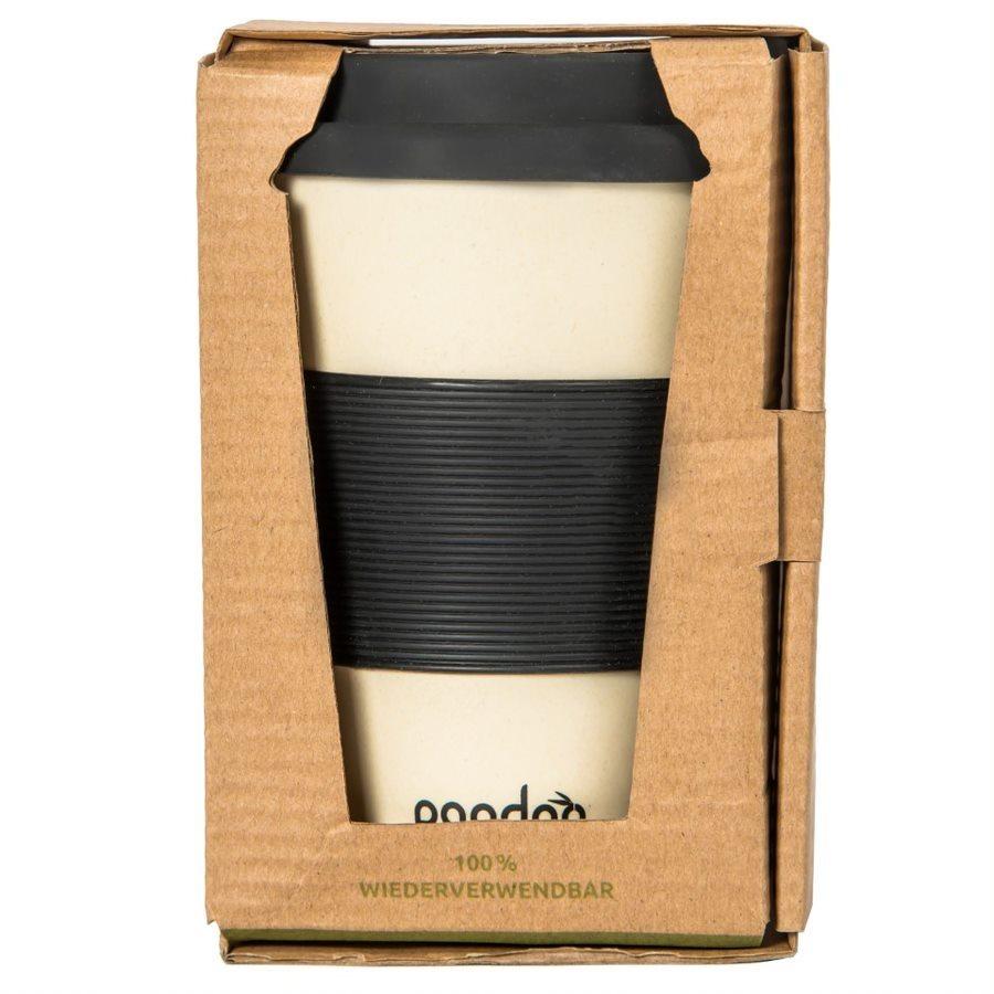 PANDOO újrafelhasználható bambuszcsésze kávéhoz és teához 450 ml fehér