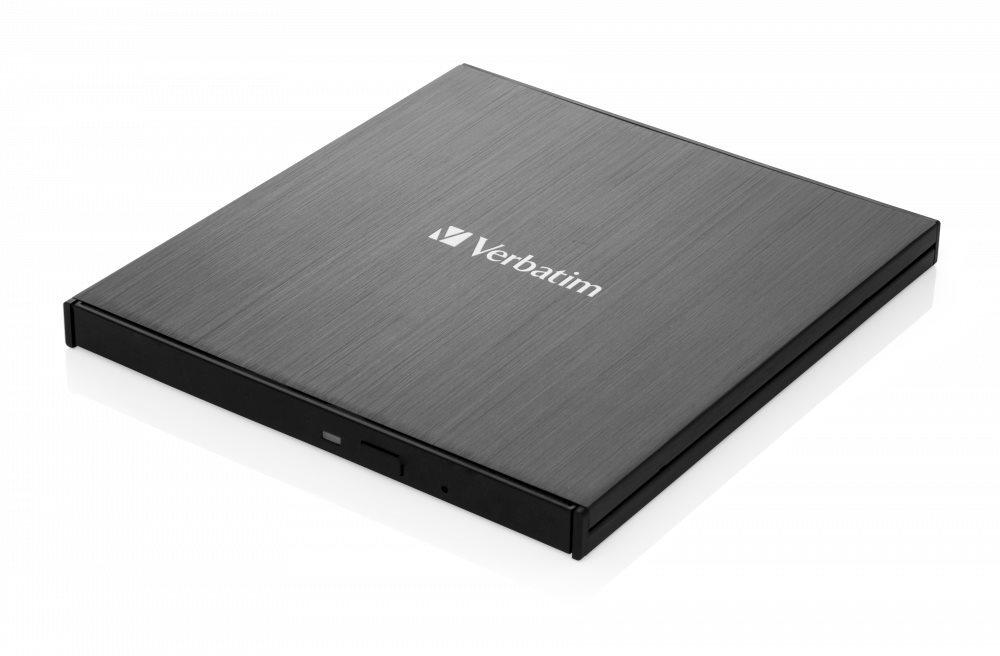 VERBATIM Slimline  Külső CD / DVD író USB-C, fekete