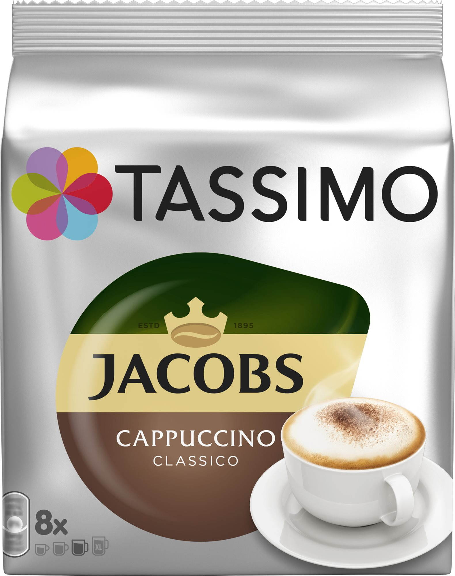 TASSIMO Jacobs Krönung Cappuccino 8 adag