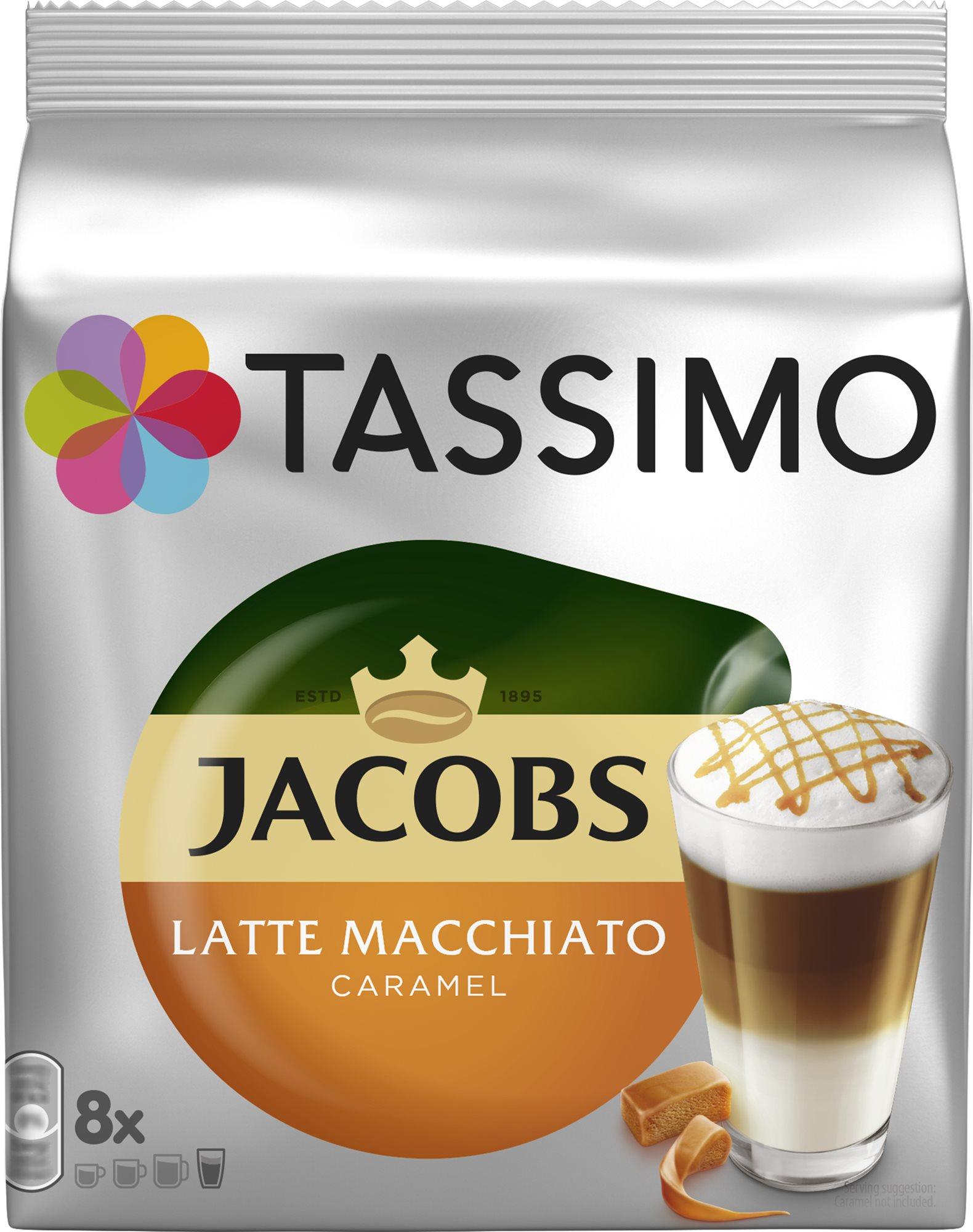 TASSIMO Jacobs Krönung Latte Macchiato karamell 8 adag