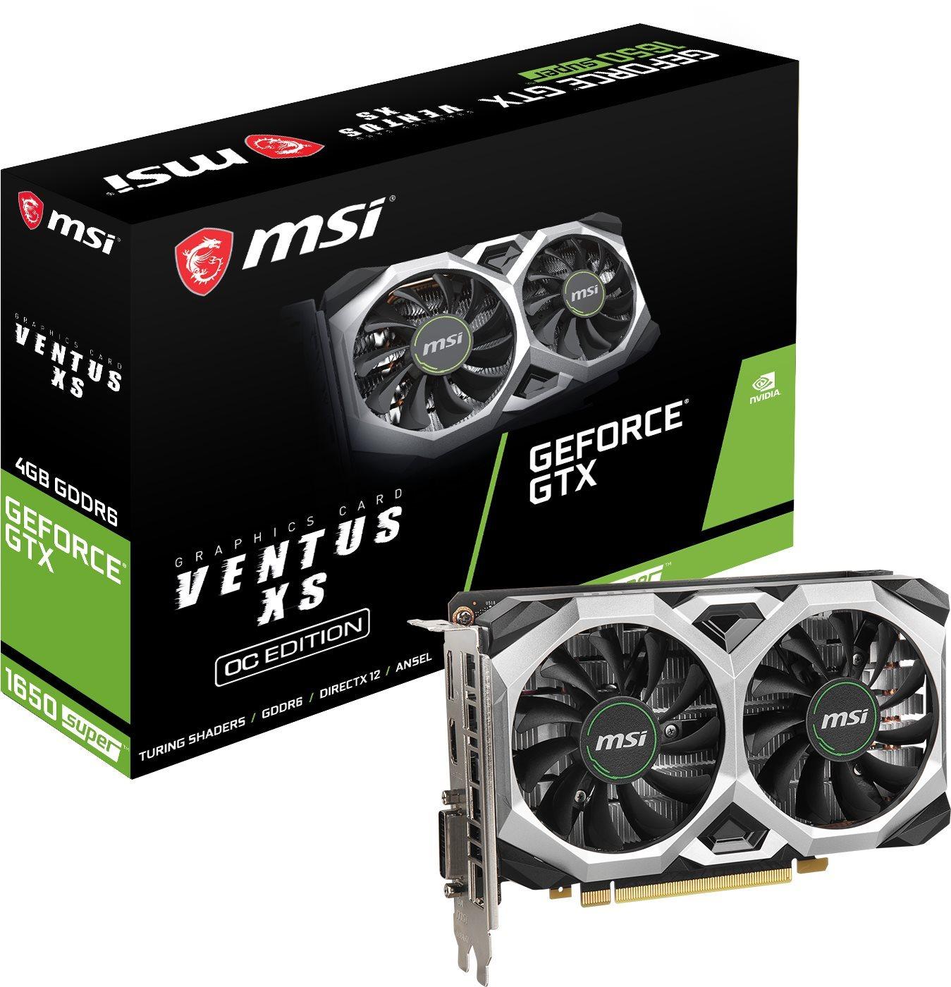 MSI GeForce GTX 1650 SUPER VENTUS XS OC 4G