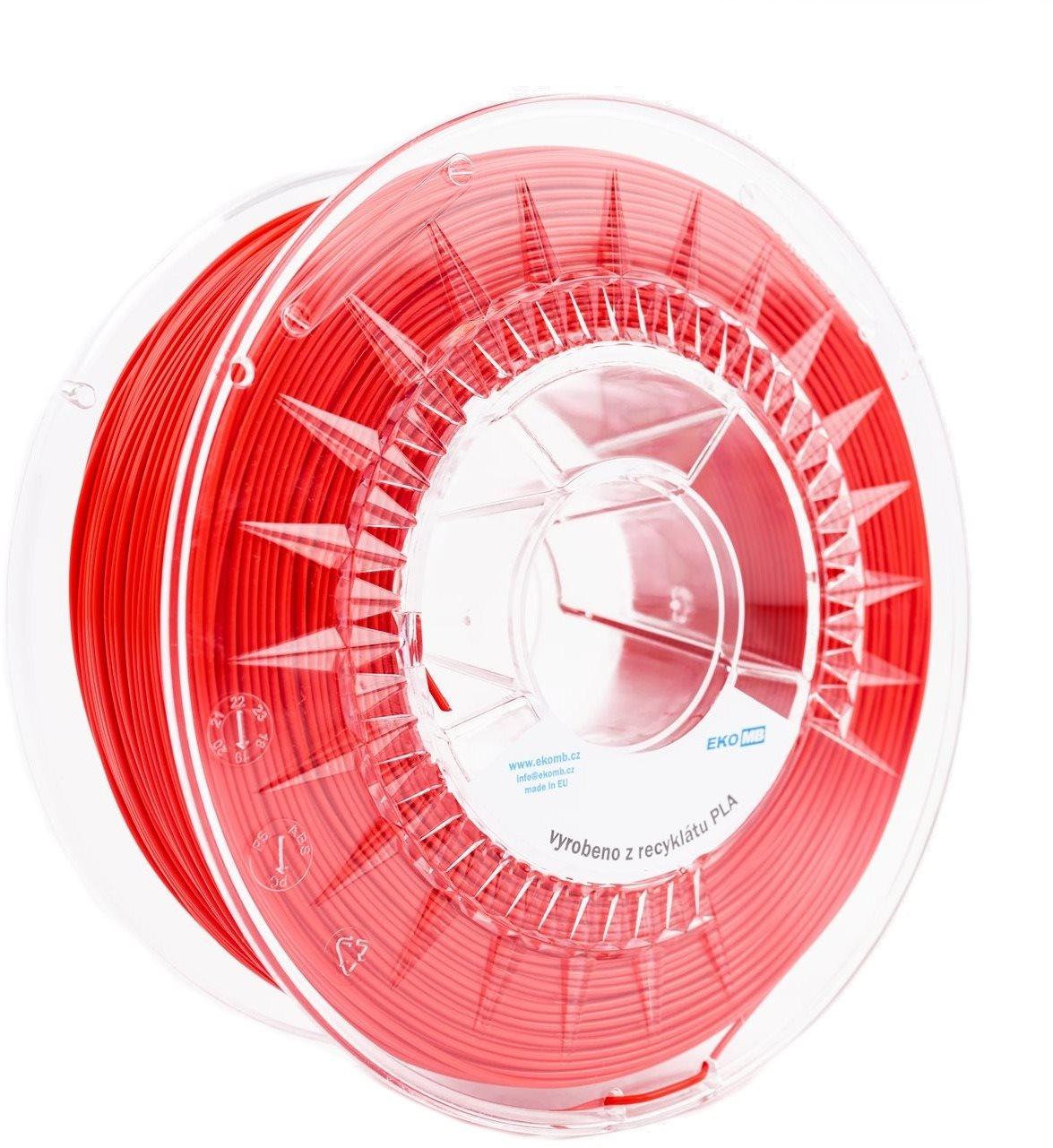 EKO MB Újrahasznosított PLA 1,75 mm 1 kg piros