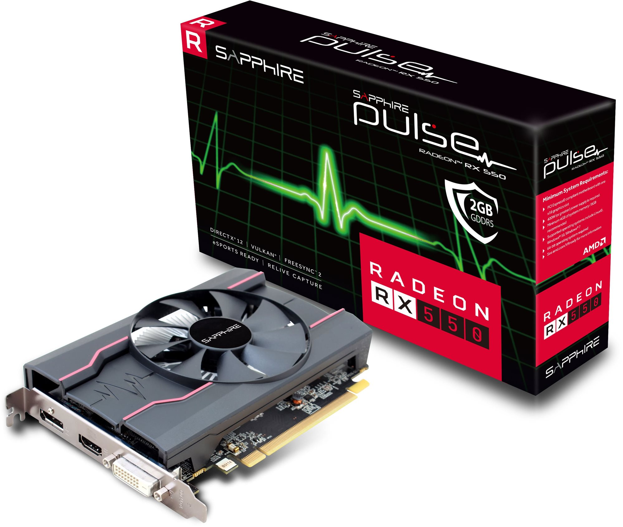 SAPPHIRE PULSE Radeon RX 550 2G