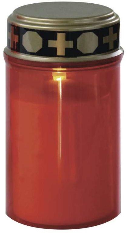 EMOS LED temetői gyertya, 2 x AA, piros színű