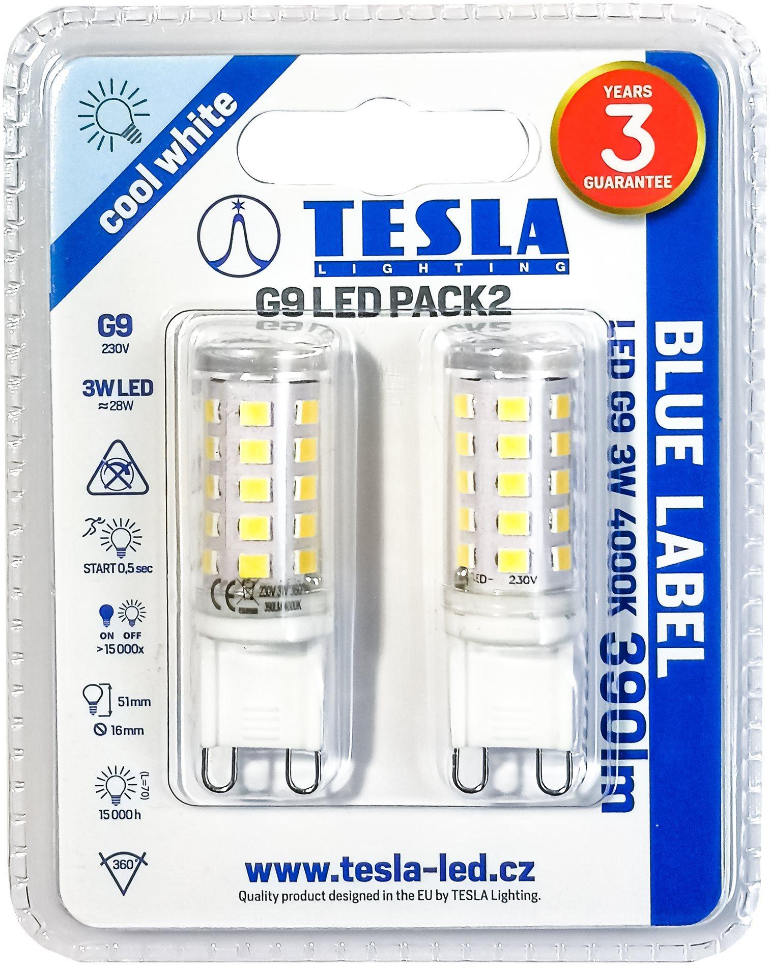 TESLA LED 3W G9 4000K 2 db