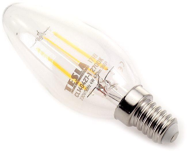 TESLA CRYSTAL LED RETRO izzó E14 4W 2700K