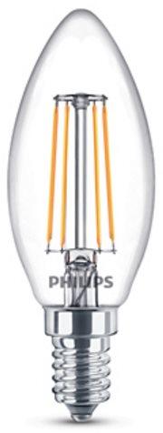 Philips LED Classic Filament Retro gyertya 4-40W, E14, 2700K, víztiszta