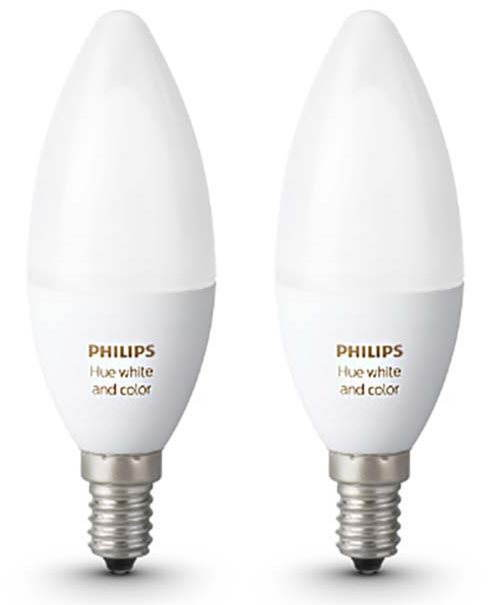 Philips Hue White and Color Ambiance 6W E14 szett 2db