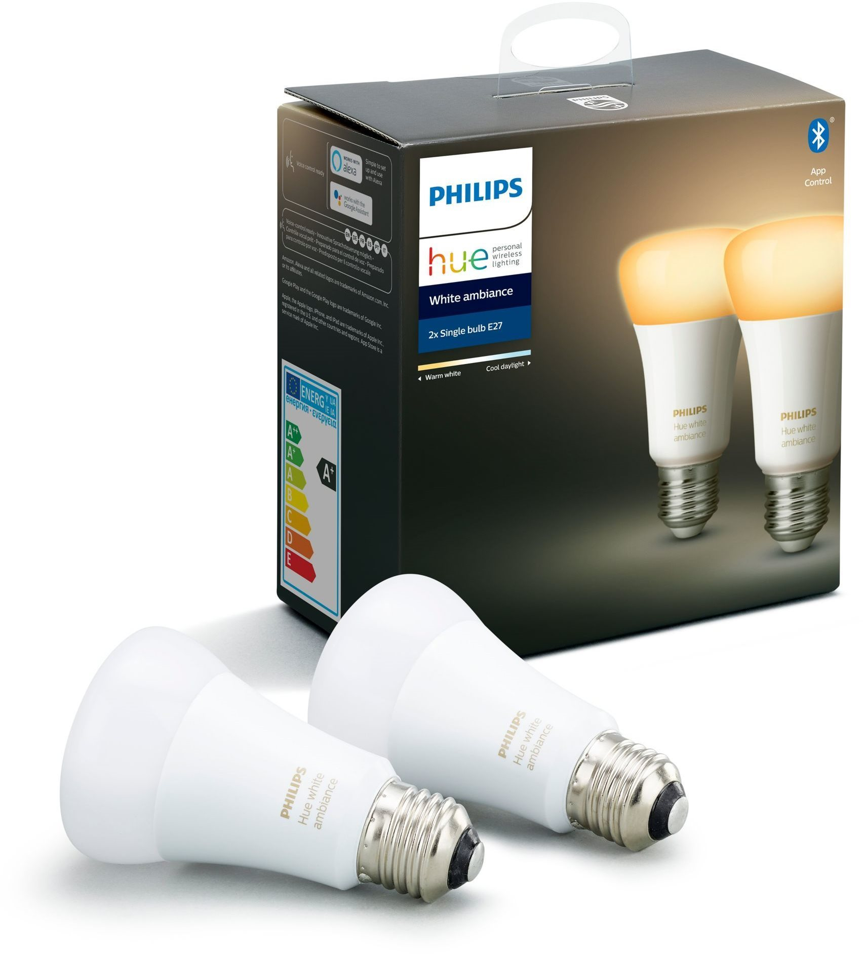 Philips Hue White Ambiance 8.5W A60 set 2 db