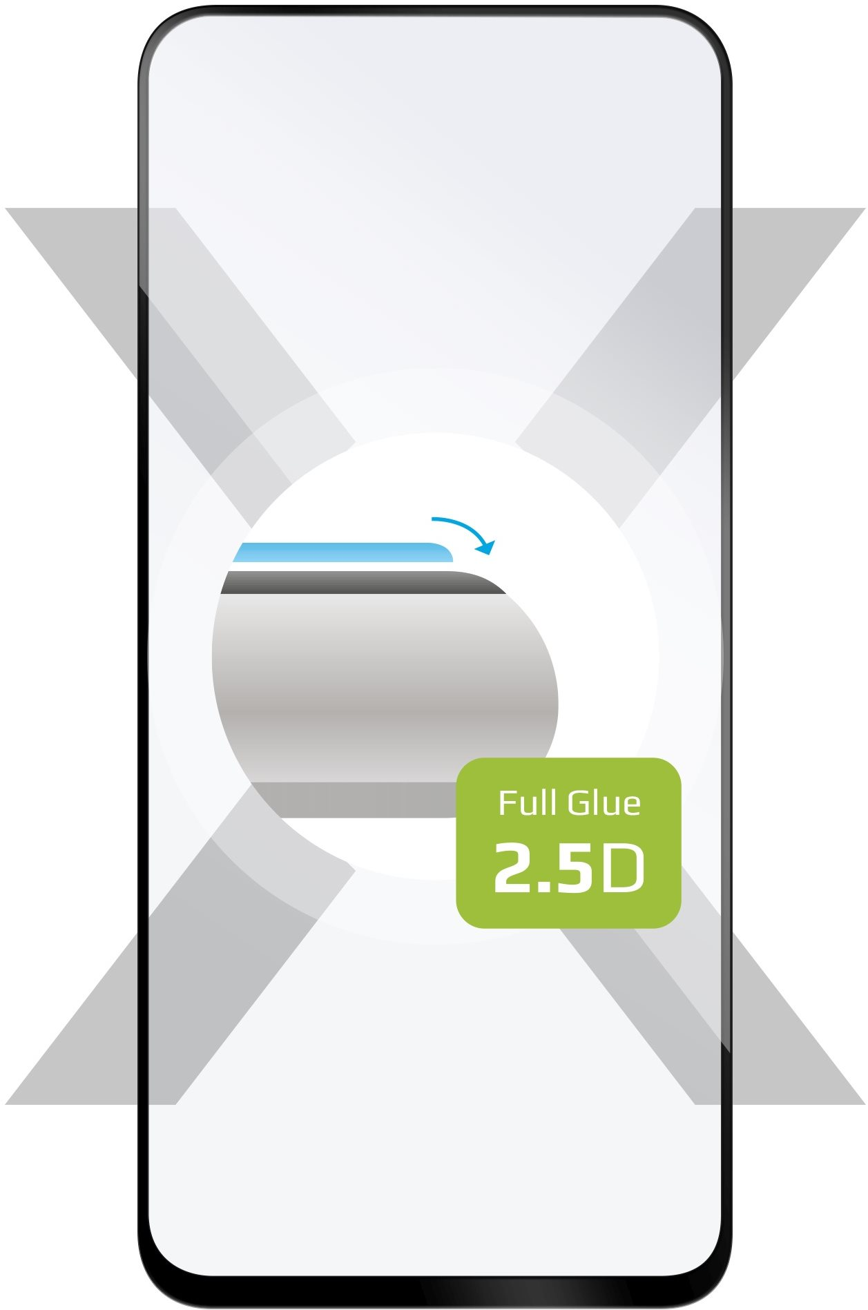 FIXED FullGlue-Cover Honor 20S fekete