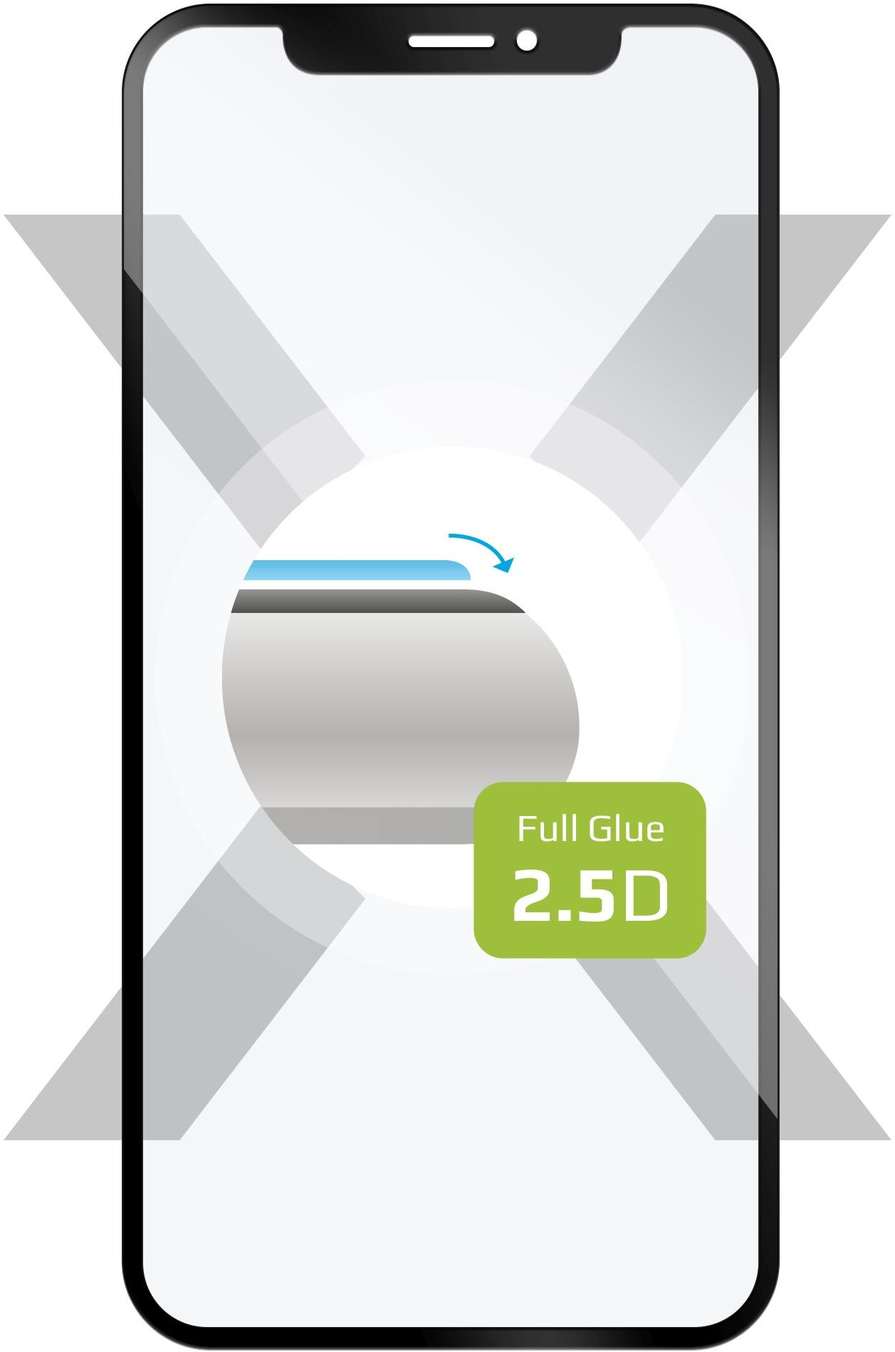 FIXED FullGlue-Cover Xiaomi Mi9 SE készülékhez, fekete