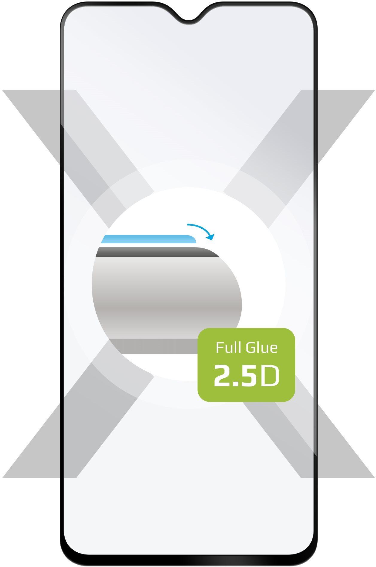 FIXED FullGlue-Cover Xiaomi Redmi Note 8 Pro, készülékhez, fekete