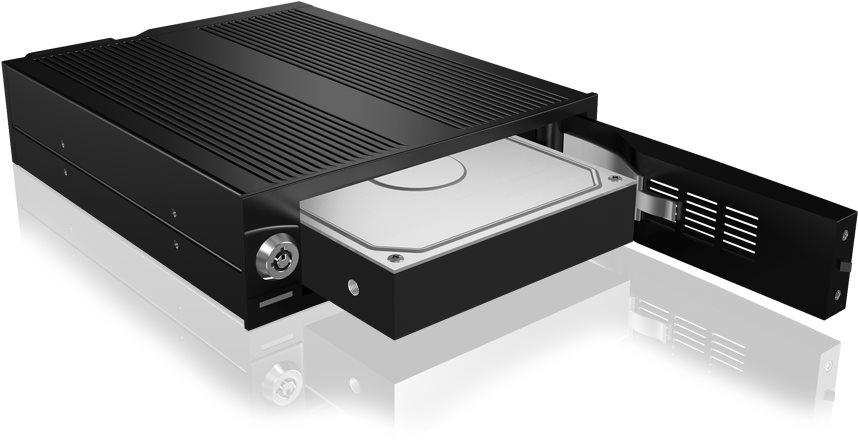 ICY BOX IB-170SK-B, fekete