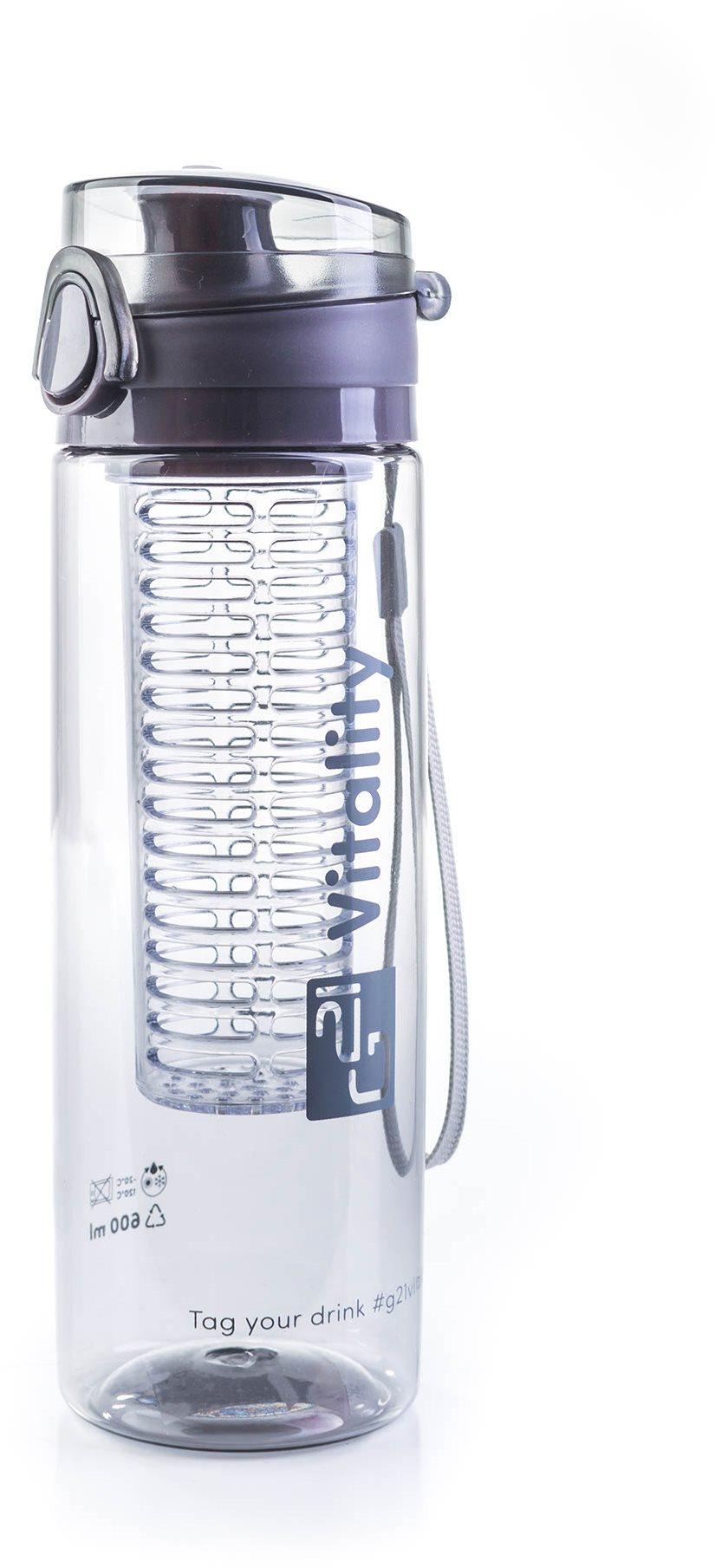 G21 Smoothie/juice palack, 600 ml, szürke