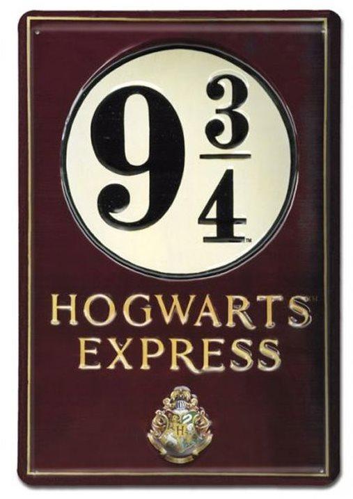 Harry Potter - Platform 9 3/4 - fém 3D jel a falon