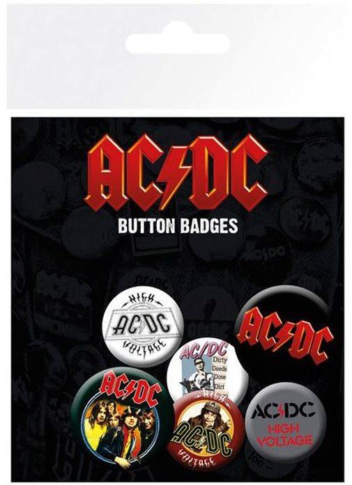 AC / DC - Gomb jelvények - kitűzők 6 db