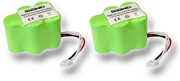 Goowei akkumulátor Ecovacs Deebot D62, D66, D73, D76, D77 (2db készlet)