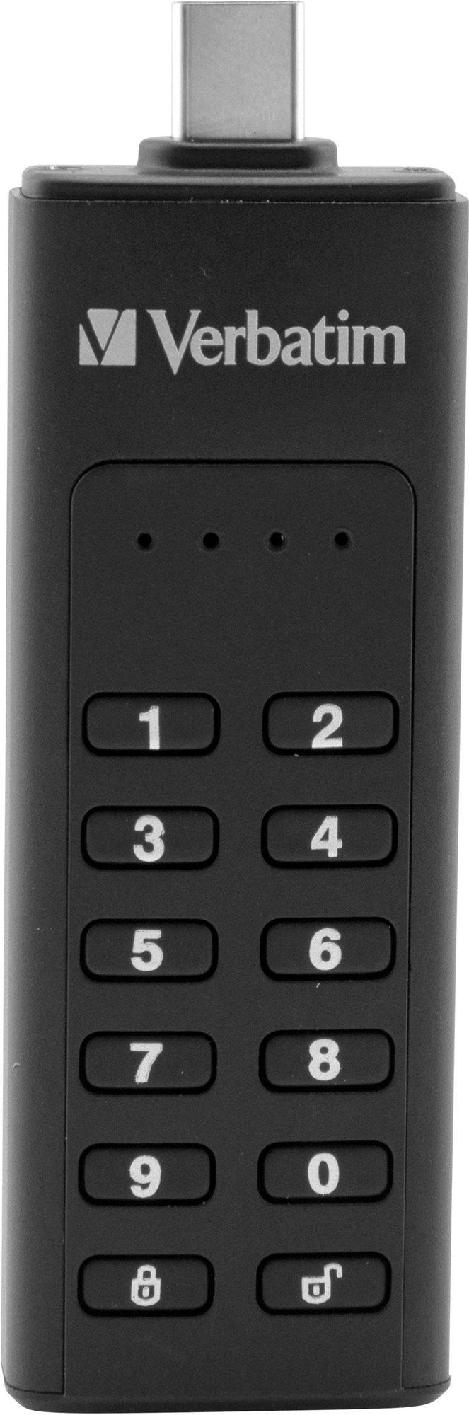 VERBATIM Keypad Secure Drive USB-C 128GB USB 3.1