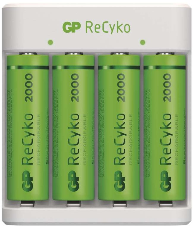 GP Eco E411 + 4× AA ReCyko 2000
