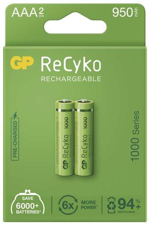 GP ReCyko 1000 AAA (HR03) újratölthető elem, 2 db
