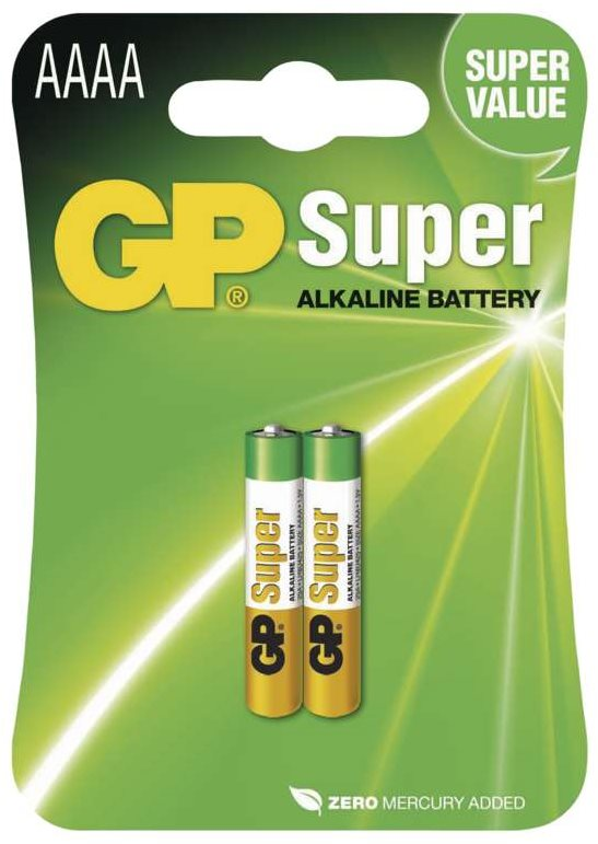 GP Speciális alkáli elem GP 25A (AAAA, LR8), 2 db