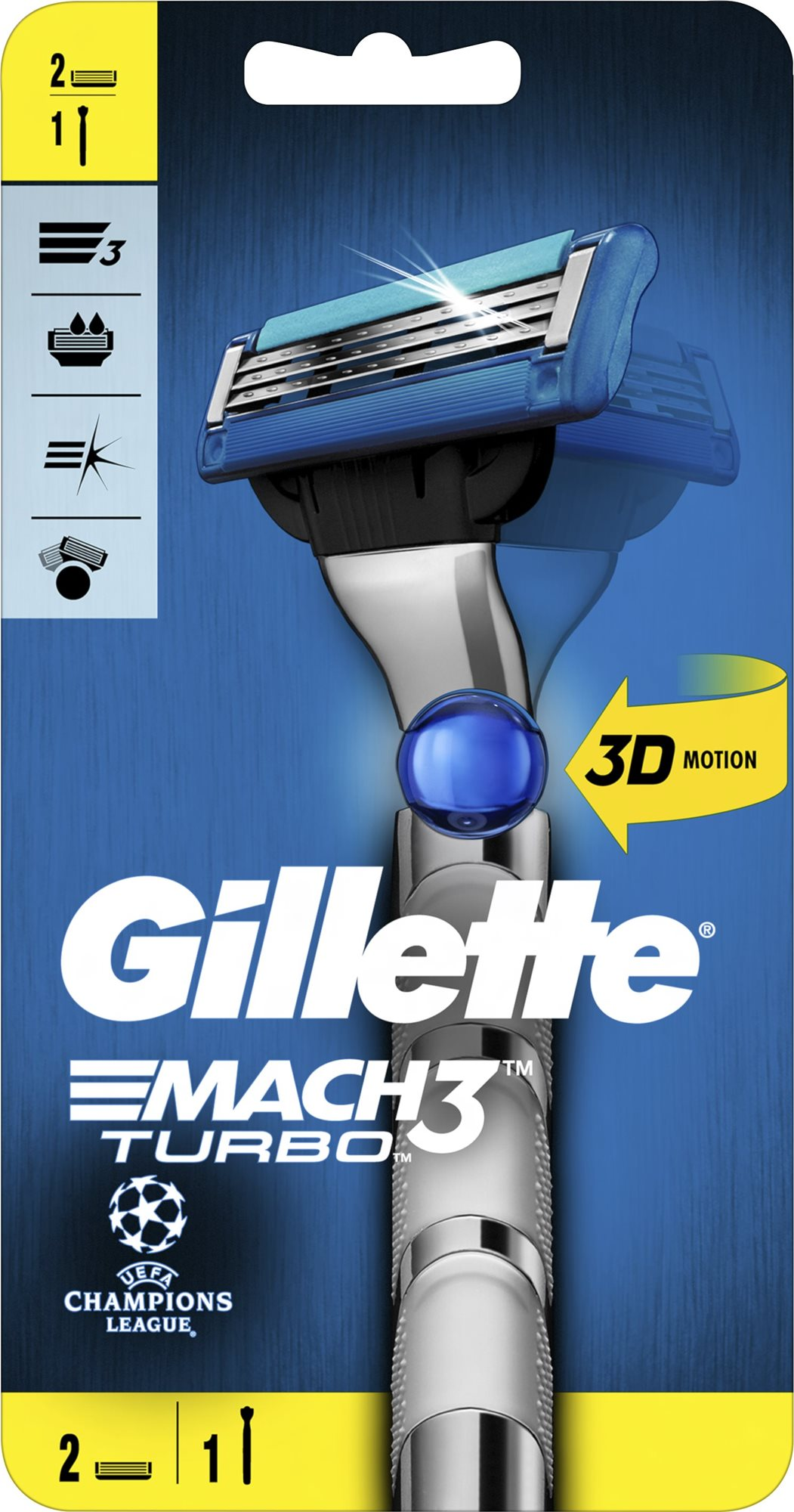 GILLETTE Mach3 Turbo Flexball + 4 db fej