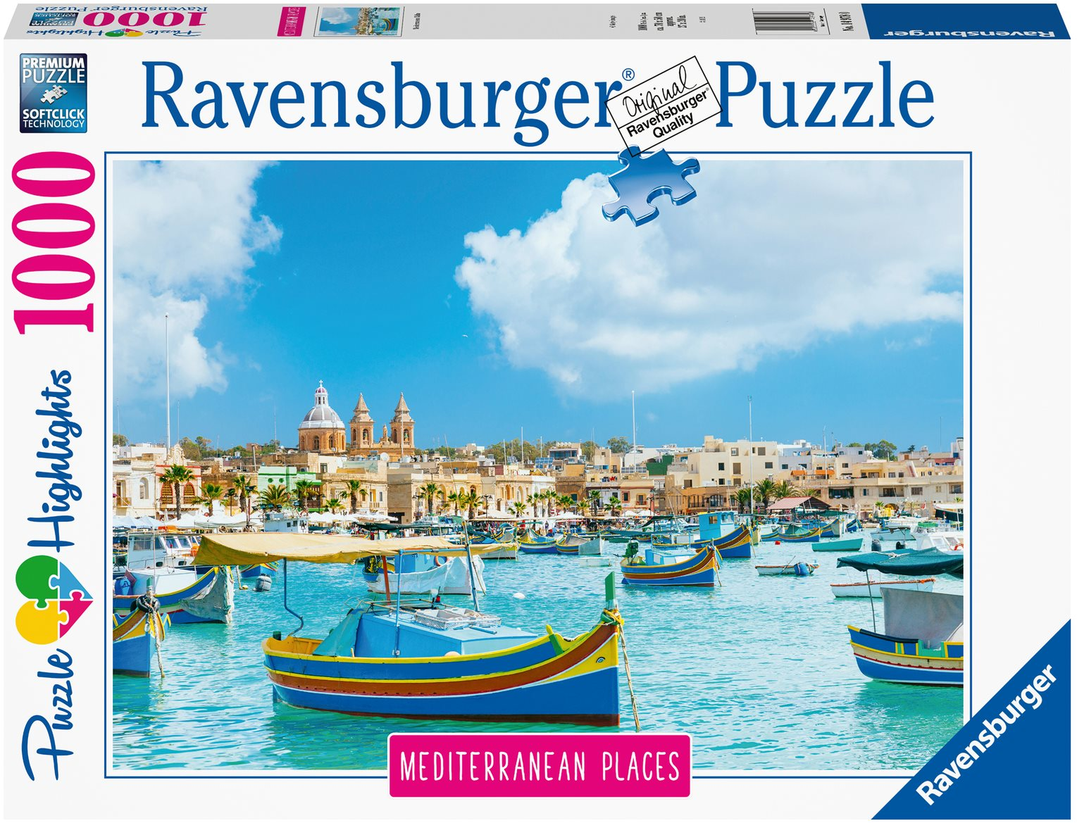 Ravensburger 149780 Málta, 1000 darabos