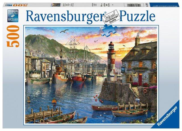 Ravensburger 150458 Napkelte a kikötőben, 500 darabos