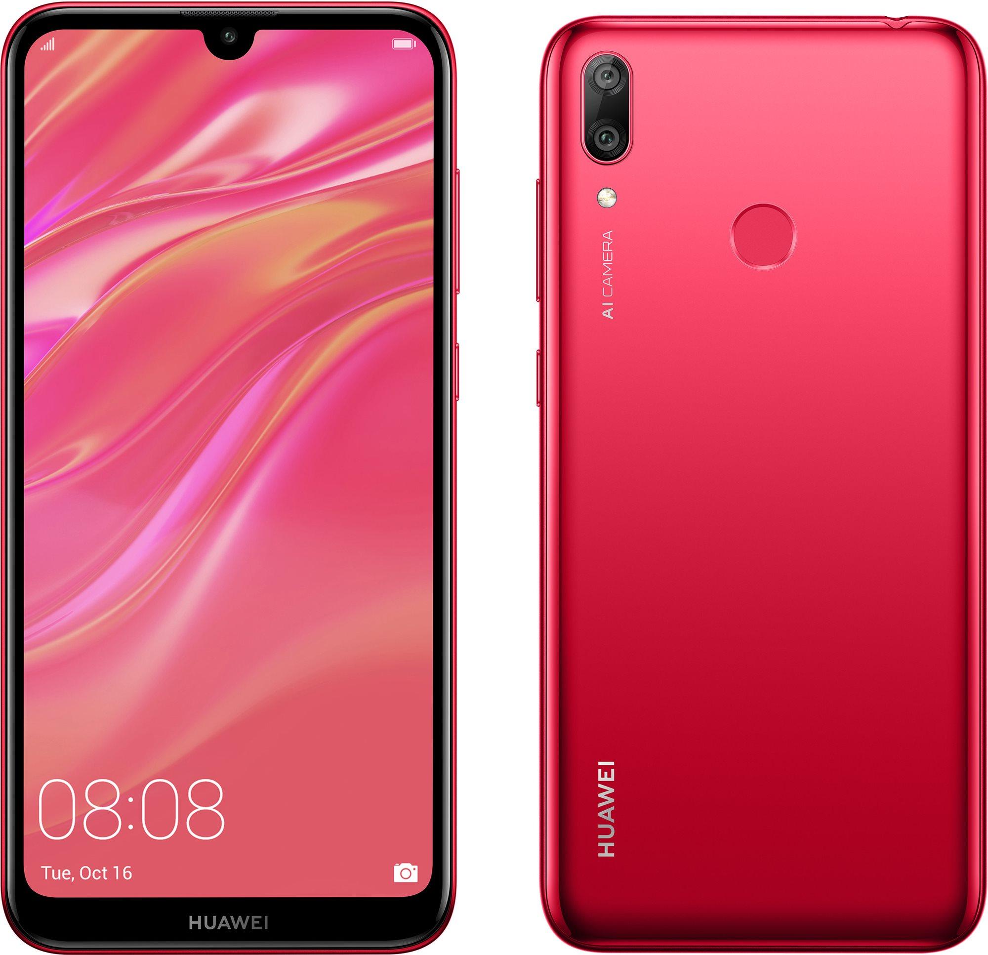 HUAWEI Y7 (2019) piros