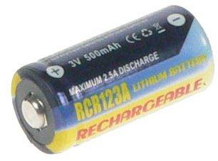 AVACOM a CR123A, CR23, DL123A lithium 3V 500mAh akkumulátor helyettesítésére