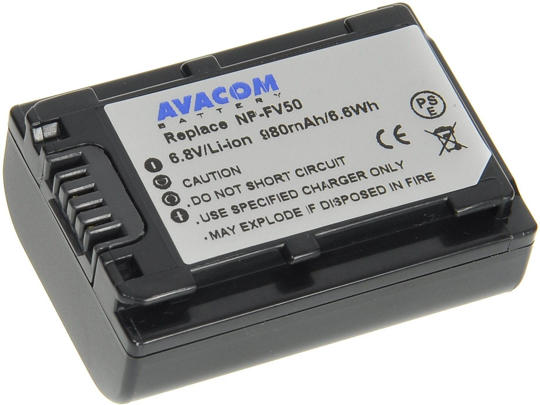 AVACOM Sony NP-FV30 készülékhez, NP-FV50 Li-ion 6,8V 980mAh 6Wh