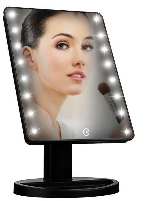 iMirror kozmetikai sminktükör LED pontfényszóróval, fekete